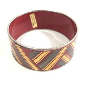 Laurana Red Gold Silver Enamel Bangle